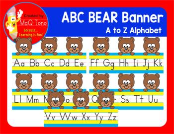 ABC Alphabet Bear Banner