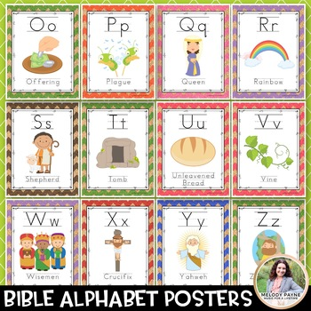 Bible Alphabet Posters {74 Chevron Cork Pages}