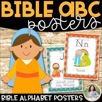 Bible Alphabet Posters {74 Chevron Cork Pages}