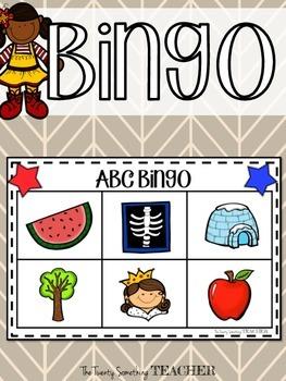 ABC Alphabet Bingo