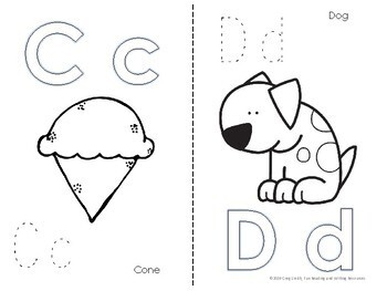 Alphabet Coloring Book with Letters to Trace the ABCs