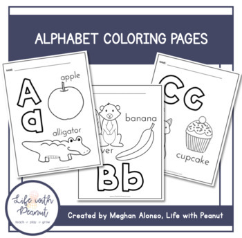 ABC Alphabet Coloring Pages