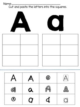 Cut And Paste Abc Worksheets | Teachers Pay Teachers
