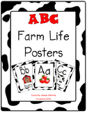 Alphabet ABC Farm Posters