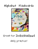 ABC Alphabet Flashcard Pictures with Directions