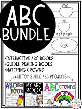 ABC Alphabet Guided Reading Books and Crowns *BUNDLE*