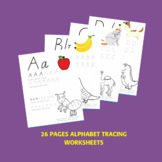 ABC Alphabet Handwriting Practice Victorian Cursive