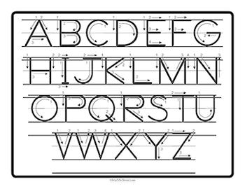 ABC Alphabet Letter Formation Card Set