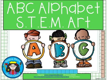 ABC Alphabet Letter STEM Art Science, Technology, Engineer