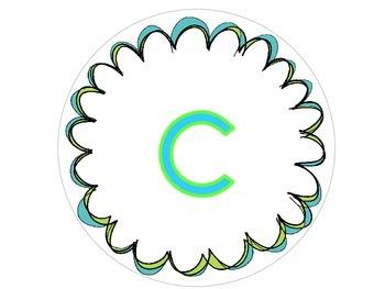 ABC Alphabet Letter Sign Paddles Colorful