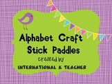 ABC Alphabet Letter Sign Paddles Colorful