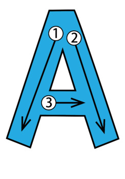 ABC Alphabet Letter Stroke Order Card Set