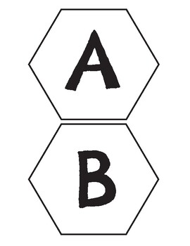 ABC Alphabet Letter and Number Hexagons