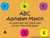 ABC Alphabet Match! A Lowercase and Uppercase Letter Match