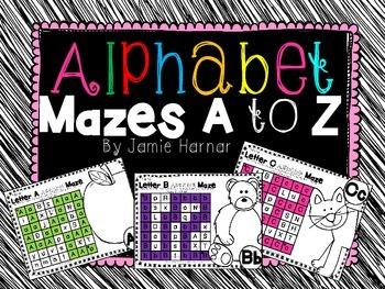 ABC Alphabet Mazes