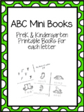 ABC Alphabet Mini Books - PreK K Printables