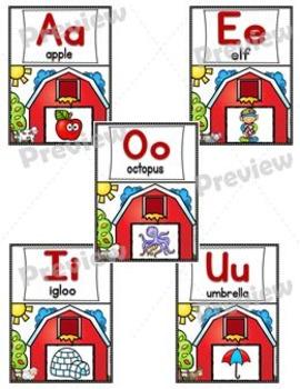 ABC Alphabet Picture Posters Pack – Farm Theme
