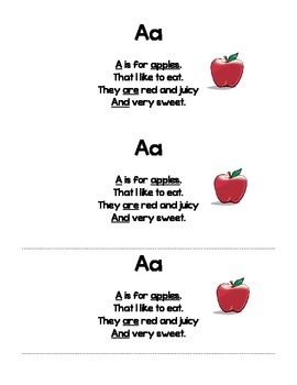 ABC Alphabet Poems for Poetry Journals / Notebooks