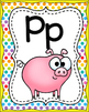 ABC Alphabet Posters Animal Theme! (Rainbow Polka Dot Background)