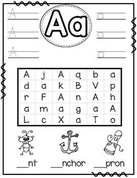 ABC Alphabet Practice Packet