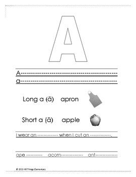 ABC Alphabet Sounds Book for beginning readers