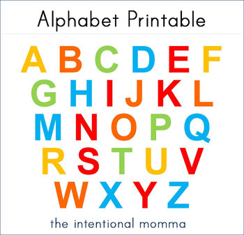 picture about Printable Abc Letters named ABC Alphabet Tot Printable