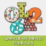 ABC Alphabet and Number Set - PDF File - Printable - DIY felt board letters