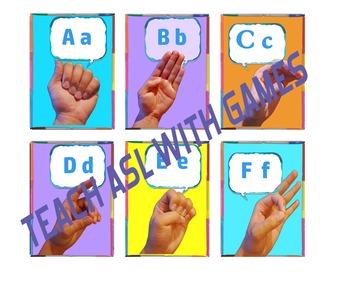 Teach ABCs in ASL via Go Fish, Old Maid, & Memory! Sign language Alphabet Games!