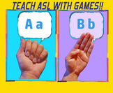 Teach ABCs in ASL via Go Fish, Old Maid, & Memory! Sign language Alphabet Games!