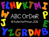 ABC / Alphabetical Order Activity