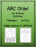 ABC Alphabetical Order Pack