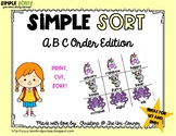 ABC Alphabetical Order Sorting Cards