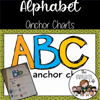 ABC Anchor Charts: 31 charts, all 26 letters +long/short v