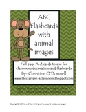 ABC Animal Flash Cards and classroom decor