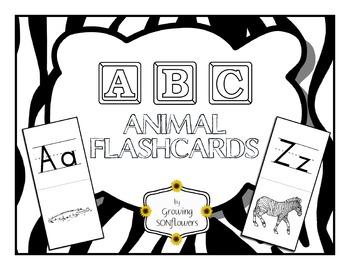 ABC Animal Flashcards through the Alphabet