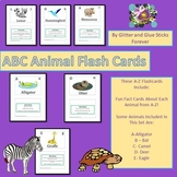 ABC Animal Flash Cards (Fun Facts Cards Included)
