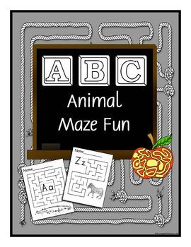 ABC Animal Maze Fun Book Through the Alphabet