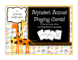 3 sets of ABC Animal Playing Cards with instructions for g