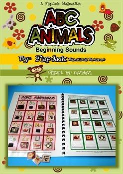 ABC Animals Beginning Sounds MagnetMat Fun
