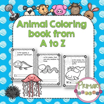 ABC Animals Coloring Book