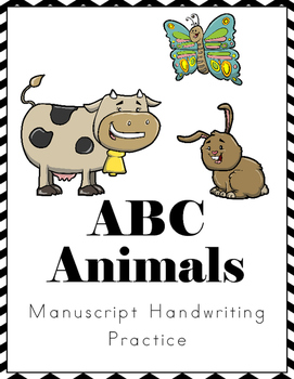 ABC Animals Handwriting Practice - Manuscript