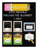 ABC Animals Handwriting Practice Through the Alphabet 5 Pa