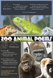 Zoo Animal Rhymes Picture Book - Poems Humor Facts Posters - ABCs