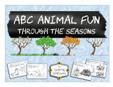 ABC Animals Worksheets Through all Four Seasons BUNDLE