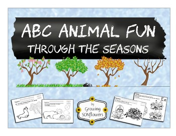 ABC Animals Through all Four Seasons BUNDLE