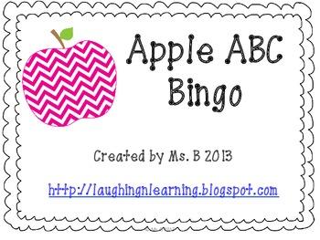 ABC Apple Bingo