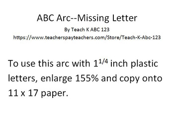 ABC Arc Mats With Missing Letters