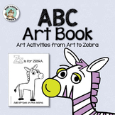 ABC Art Book: No Prep Art Activities for Kindergarten Art