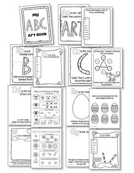 ABC Art Book: No Prep Art Activities for Kindergarten Art