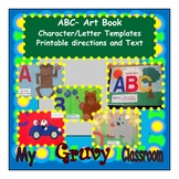 ABC Art Book - Character and Letter template - Printable d